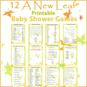A New Leaf Baby Shower Game