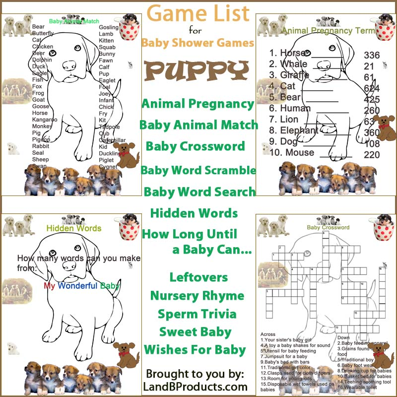 Best Puppy Themed Baby Shower Games L And B Products